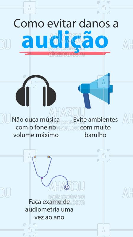 Assim você mantém a saúde da sua audição em dia! ?? #Audição #CuidadosAudição #AhazouSaude  #fono #fonoaudiologia #bemestar