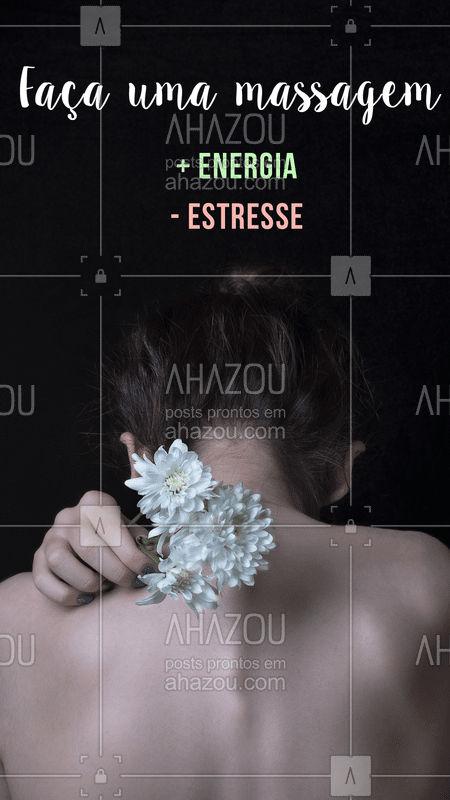 Dê adeus para o estresse e olá para energia e relaxamento! #massagem #ahazou #massoterapia