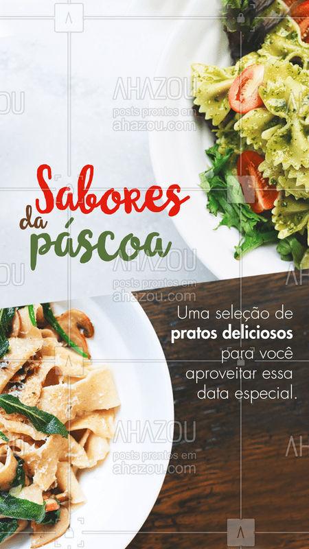 Aqui a sua Páscoa é repleta de sabor! Preparamos uma seleção especial de pratos com um toque surpreendente. Experimente! ? #ahazoutaste #delicia #food #pascoa #gastronomia #comidaitaliana