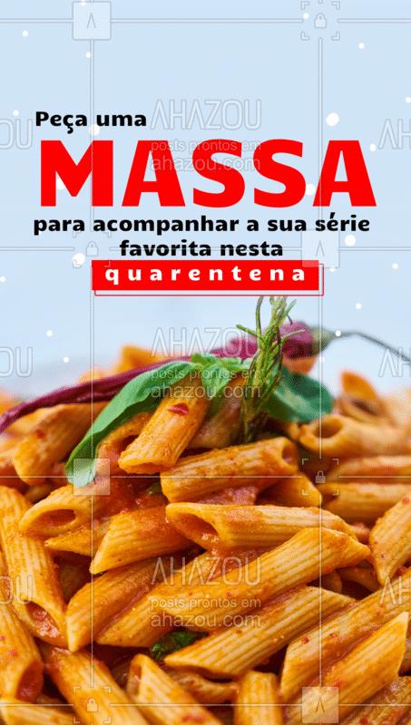 Lasanha, Raviolli, Penne, Spaghetti, Gnocchi… Você escolhe, porque não há comida melhor do que uma culinária italiana. Quem concorda deixa o like! ?   #Massa #ComidaItaliana #AhazouTaste #Gastronomia #Quarentena #Delivery #Promoção #FiqueemCasa
