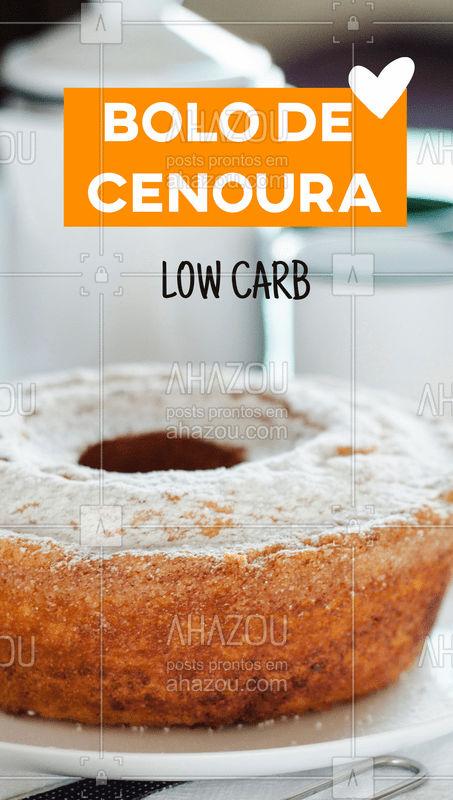 Temos receita de bolo de cenoura low carb, porque ninguém é de ferro! ? ?  ? Ingredientes: # 4 ovos inteiros ???? # 1 cenoura ? # 100 ml óleo de coco ? # 1 xícara de farinha de coco # 1 xícara de farinha de amêndoas # 4 a 5 colheres de adoçante low-carb (recomenda-se xilitol ou eritritol) ???? # 1 colher de fermento químico ?  ?Preparo:  # Bater os ovos, óleo de coco e a cenoura em um liquidificador; # Colocar todos os outros ingredientes em um recipiente e adicionar a misturar a ele; # Misturar tudo até ter uma mistura homogênea; # Levar ao fogo preaquecido em temperatura média por cerca de 40 minutos; # Retirar, desenformar, cobrir e servir.   Aproveite, sem sair da dieta! ? ?   #ahazou #gastronomia #doces #festa #bolo #bolodecenoura #lowcarb #dieta #tutorial #comidasvariadas