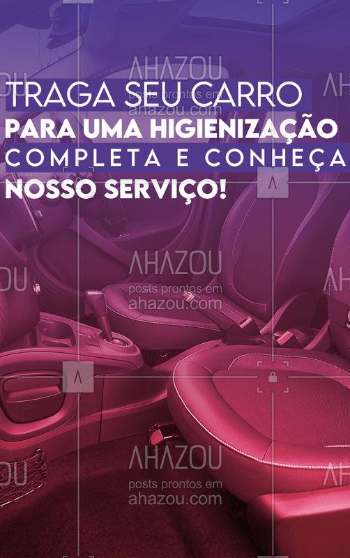 Está precisando fazer uma limpeza completa no seu carro, Higienizamos o seu carro, ele volta ainda mais lindo e cheiroso! ?❤ #AhazouAuto  #esteticaautomotiva #carros #lavajato #automotiva