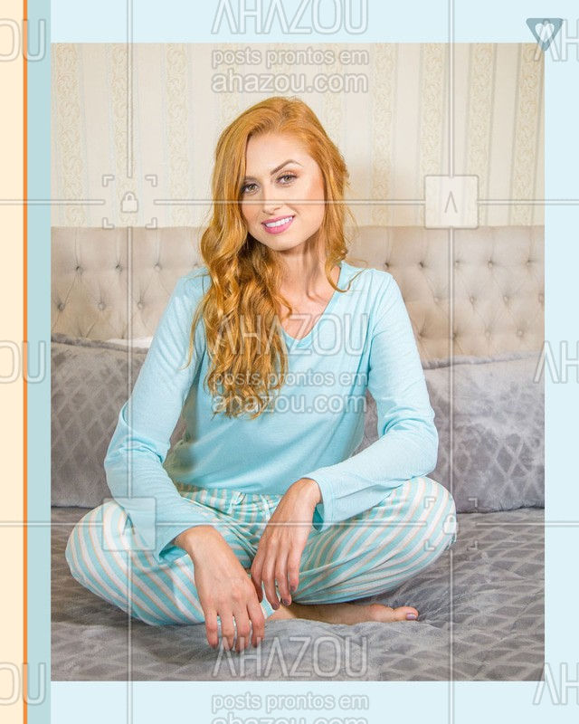 A receita infalível para uma boa noite de sono: mente relaxada, sua cama e um pijaminha confortável? ⠀ E sabe aquele pijama bem levinho, com a malha super macia que parece que já temos há muito tempo? O Pijama Longo Adulto Feminino é assim! Difícil é se manter só a noite com ele?? ⠀ #noitedesono #pijamalovers #pijamafeminino #amopijamas #rendaextra #ahazouromance #ahazourevenda