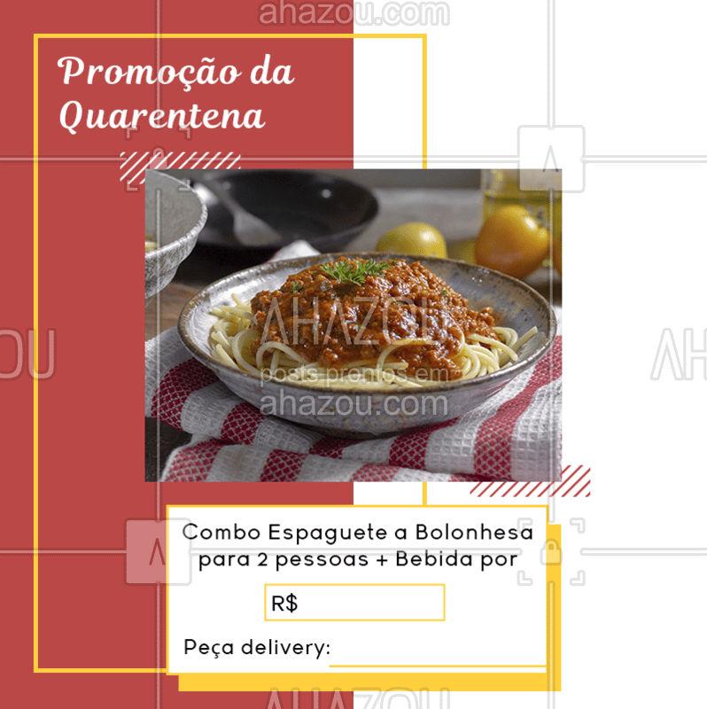 Quem mais ama espaguete a bolonhesa? ?❤ Pedidos: (contato)   #ComidaItaliana #Massa #MonteoSeuPrato #AhazouTaste #Promoção #Quarentena #FiqueemCasa #Delivery #Gastronomia