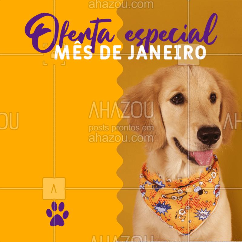 Comece o ano cuidando do seu PET como ele merece! Não perca nossa promoção especial que vai durar o mês de JANEIRO inteiro! ??? #pet #ahazoupet #janeiro #promoção #petshop #petlovers