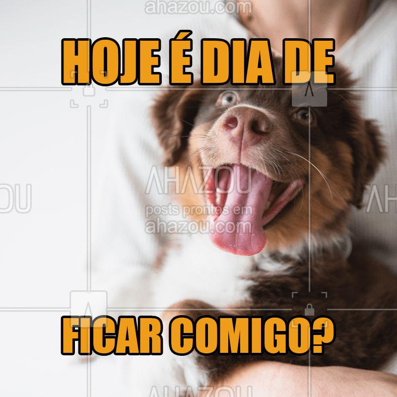 1º mandamento para tutores de cachorro: passarás mais tempo com seu melhor amigo durante o fim de semana!  #pet  #fimdesemana  #ahazou  #ahazoupet  #cachorro  #petlover  #petcare  #dog
