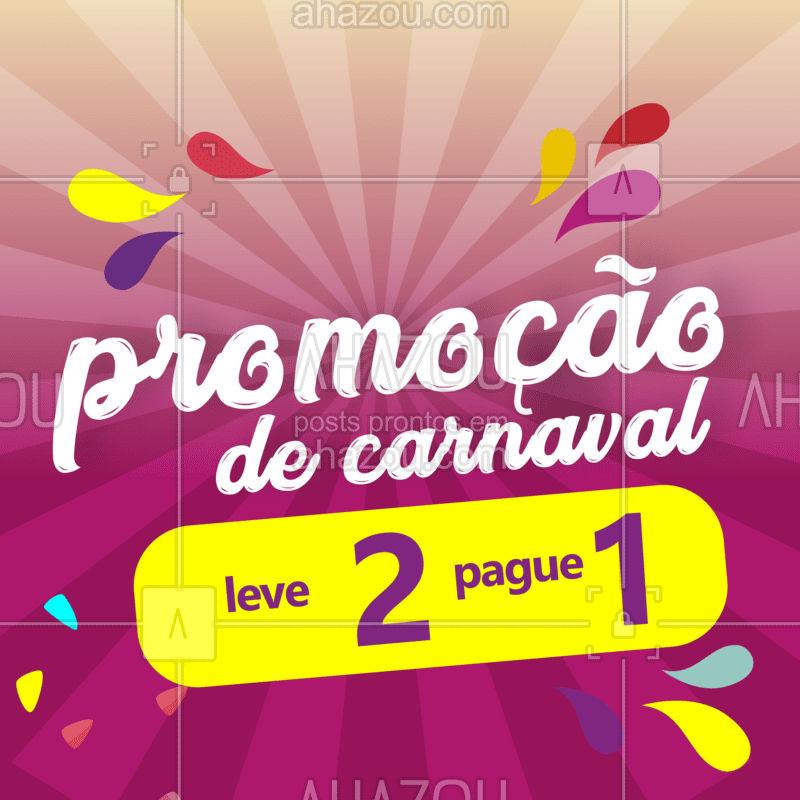 Separamos as melhores promoções para você! Pague por 1 tratamento e ganhe o outro, na faixa. Gostou? Então corre para agendar o seu horário. Para maiores informações e regulamento consulte-nos. ? #desconto #carnaval #corremeninas #promocao #off