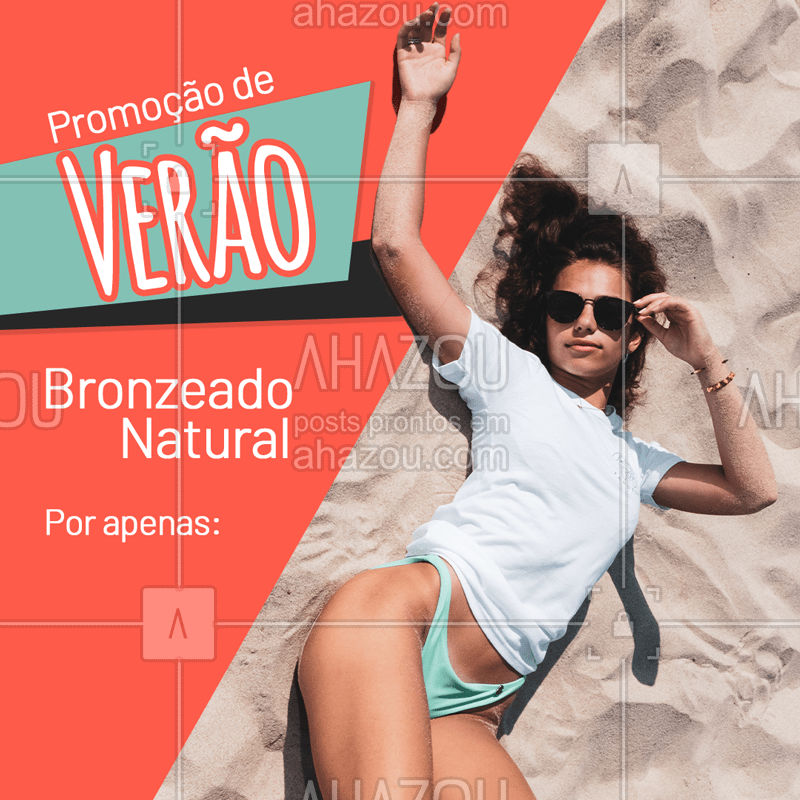 Essa é a sua chance para ficar ainda mais linda para curtir o Verão! ??️? Agende seu horário agora mesmo! #verao #combo #esteticacorporal #ahazouestetica #bronzeamento  #bronze  #promocao #bronzeamentonatural