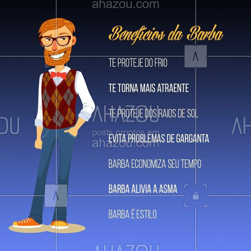 Quem tem barba já sabe, os benefícios são infinitos.  #barbearia #ahazoubarbearia #barba #ahazou #barbaderespeito #beard #benefícios #dicas