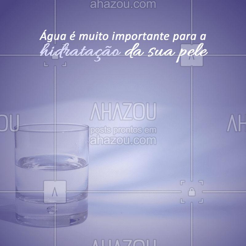A água é fundamental para manter o equilíbrio do organismo e ainda auxilia nos processos de digestão, absorção e metabolismo . #ahazou #dicas #agua #saude