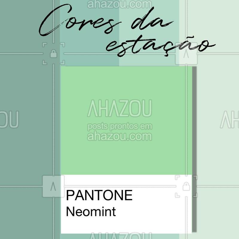 Refrescante e extremamente simpática, essa tonalidade de verde chegou com tudo em 2020 e fica linda em diversas peças, principalmente em vestidos. ?  #Neomint #Menta #TrendColor #CoresdaEstação #Moda #Moda2020 #TendênciaModa #AhazouFashion #Dicas