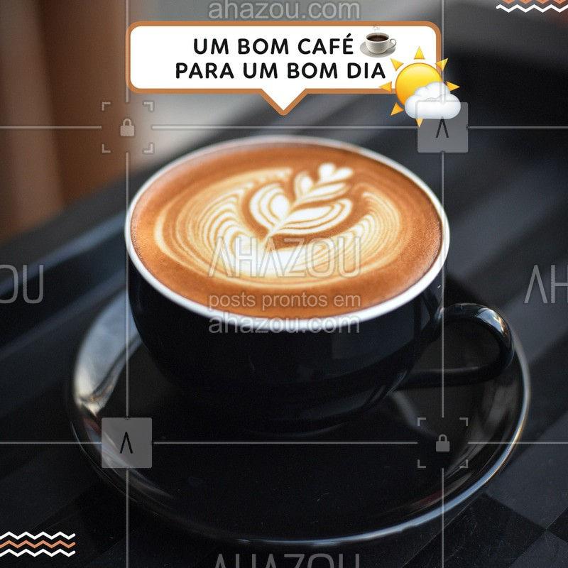 Para ter aquele lindo dia, tome um maravilhoso café <3  ☕ #Cafe #BomDia #Ahazou