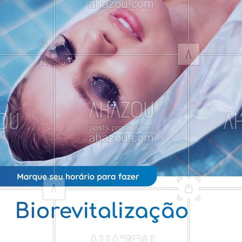 É um procedimento pouco invasivo que não causa vermelhidão nem inchaços e trás resultados excelentes a sua pele. Tenha uma pele mais macia, aveludada, sem flacidez e redução das rugas e linhas de expressão. Marque já o seu horário e venha fazer biorevitalização. #agendamento #AhazouBeauty   #esteticafacial #biorevitalização