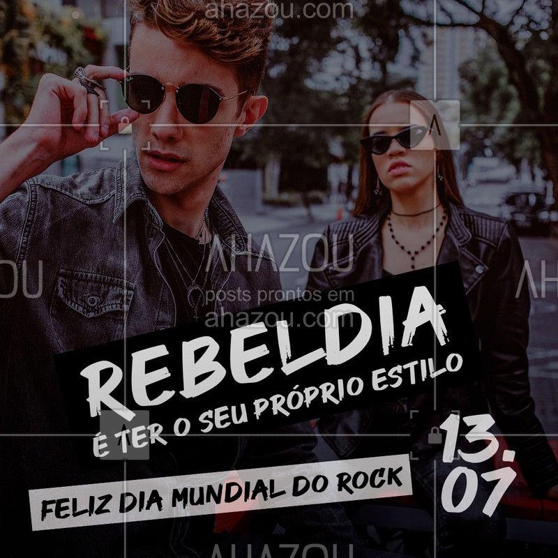 O verdadeiro espírito do rock é ser rebelde e seguir o seu próprio estilo, não importa o que digam. Feliz dia Mundial do Rock. ? #AhazouFashion #AhazouÓticas #diamundialdorock #fashion