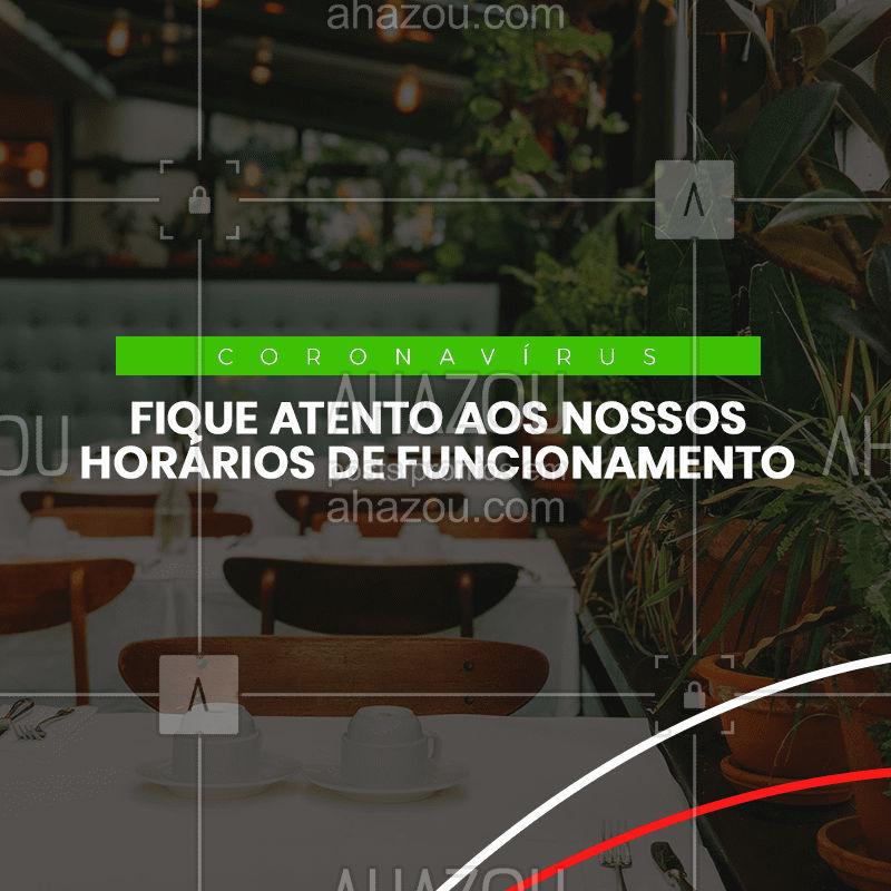 Devido a pandemia coronavírus, teremos algumas mudanças nos nossos horários de funcionamento. Fique atento, em breve mais informações. #ahazoutaste #ahazou #horario #mudanca #restaurante #italiano