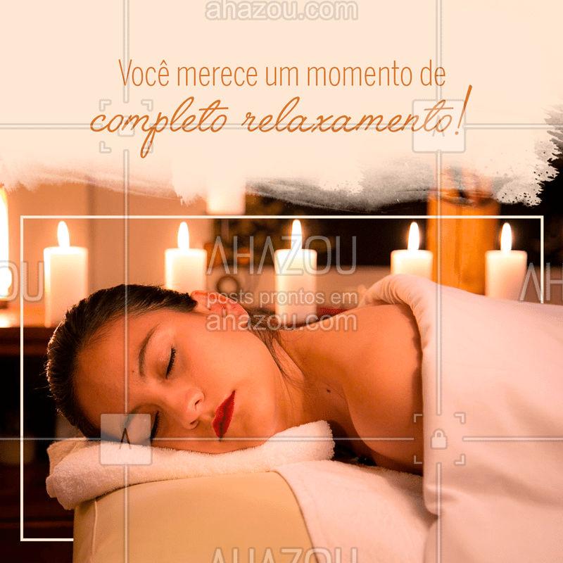 Não deixe de encontrar tempo para cuidar de você. Aproveite os benefícios mentais e físicos de uma boa massagem! #cuidado  #relaxamento  #massagem  #estresse  #relaxamentomuscular #autocuidado #relaxar #ahazou
