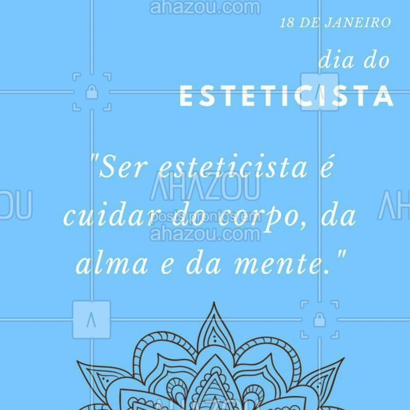 Hoje é dia dos profissionais que se dedicam para destacar a beleza em todos! Parabéns para todos os esteticistas ? #diadoesteticista #esteticafacial #ahazou #estetica #esteticacorporal