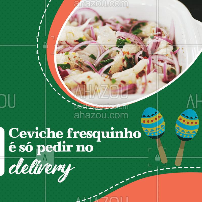 Quem procura um prato diferente e gostoso com peixe, vai encontrar no Ceviche a receita perfeita. Você também quer provar? É só pedir no Delivery.  #ahazoutaste #ceviche #delivery #peixe