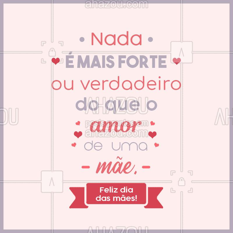 Desejamos a todas as mães um dia muito feliz, cheio de amor e carinho! ❤ #mães #felizdiadasmães #frases #diadelas #ahazou #bandbeauty #diaespecial #amordemãe #gratidão #ahazou
