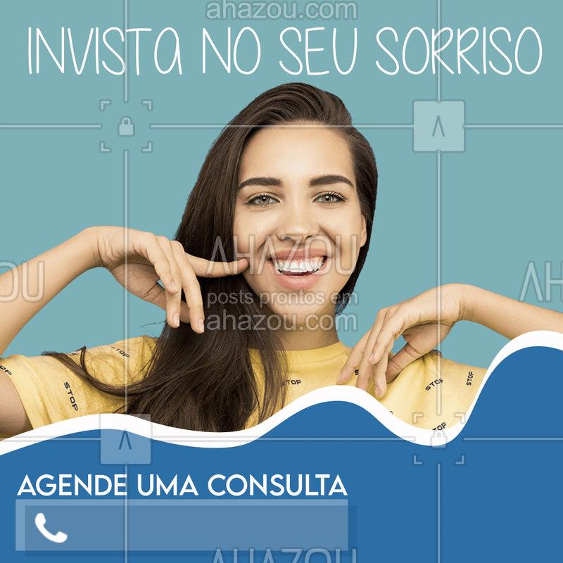 Invista já no seu cartão postal, o seu sorriso. Agende já uma consulta!! #ahazou #odontologia #cuidado