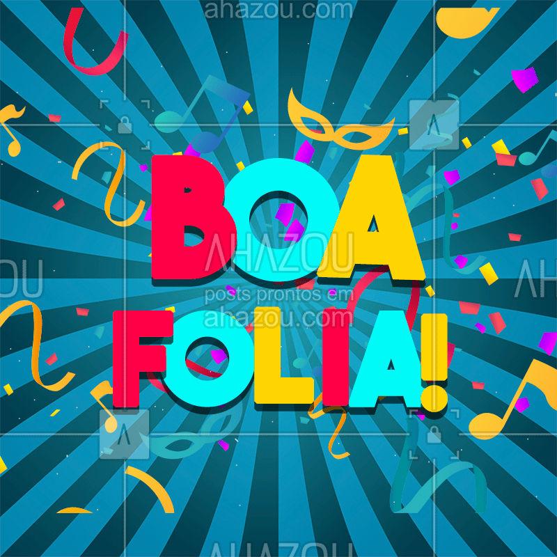 Bora curtir! Bom Carnaval pra vocês ? #ahazou #carnaval