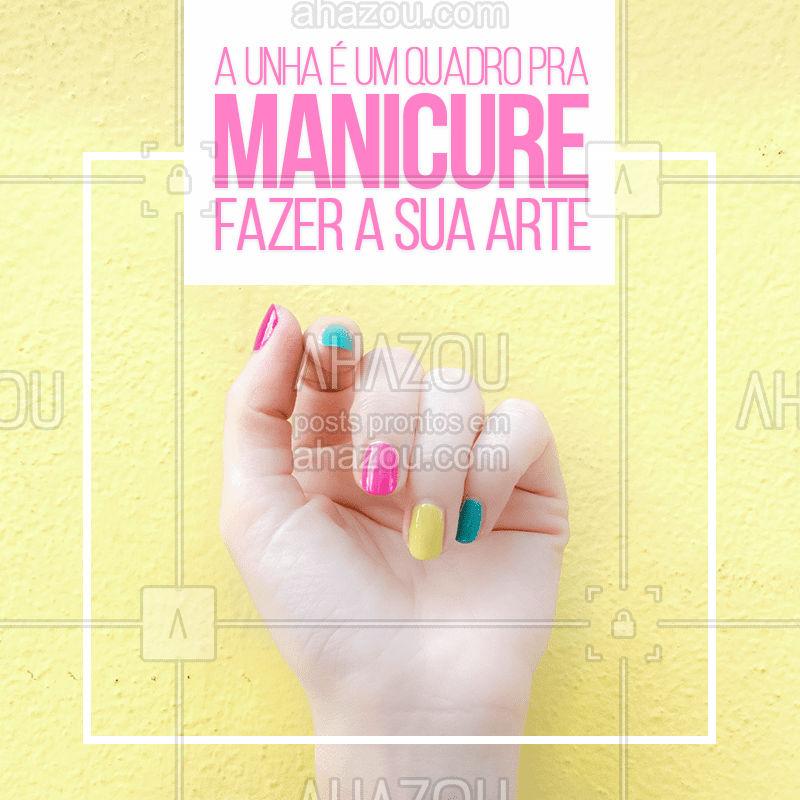 E cada cliente é uma obra única ?? #manicure #unhas #arte #bandbeauty #ahazou