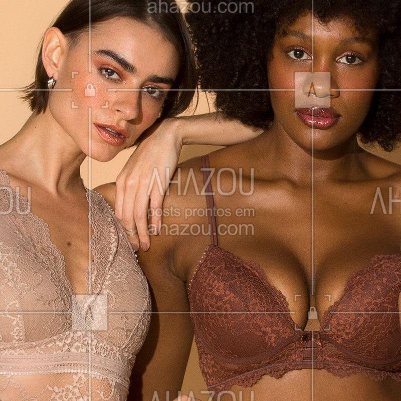 Descubra o seu tom ideal ✨ . Sutiã Cropped Triângulo  ref.503516 Sutiã Meia Taça Nude Renda  ref.503016 . #liebelingerie #lingerie #nudeparatodas #sutiã #celebrequemvocêé #ahazouliebe #ahazourevenda