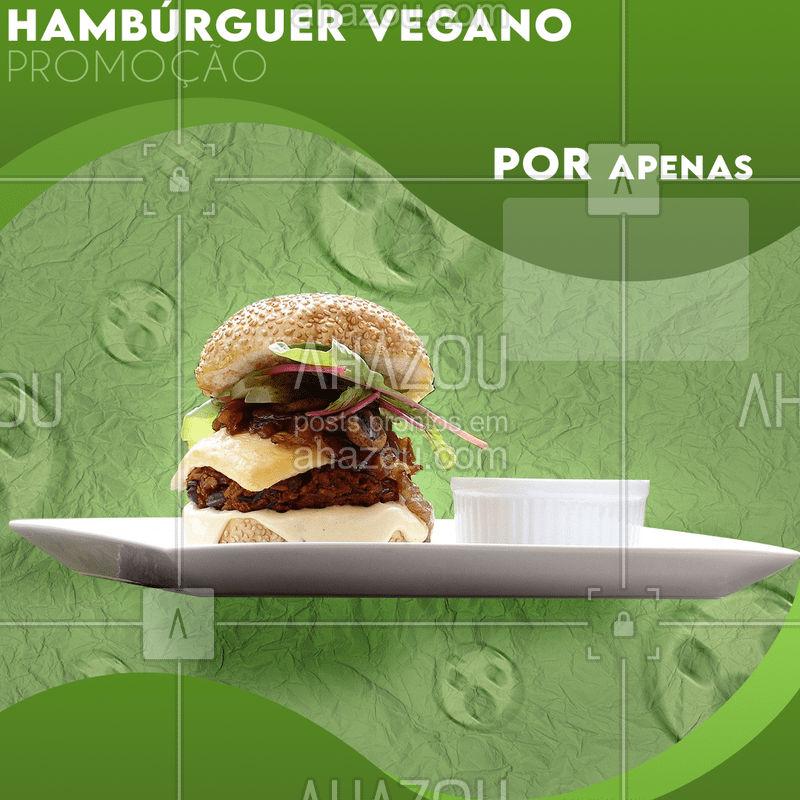 Temos promoção para os veganos também! Não perca a chance de experimentar nosso burguer vegano por um preço muito camarada!?? #vegan #ahazou #food #saude