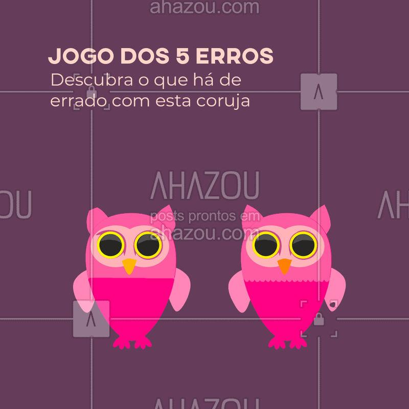 Quando você descobrir os 5 erros, marque um amigo para descobrir também!  #pet #ahazou #game #jogo5erros