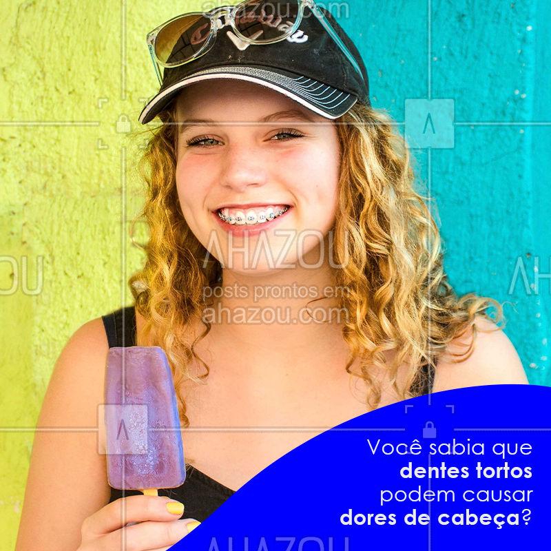 O uso de aparelho ortodôntico vai muito além da estética. Com a mastigação prejudicada em decorrência dos dentes tortos, pode haver estresse dos músculos ligados à região, provocando dores de cabeça e, em alguns casos, até dores nas costas.  ??❤️ Agende uma consulta e faça uma avaliação ortodôntica.  #dentista #ortodontia #AhazouOdonto #odonto #odontolove #odontoporamor #dente #odontolovers #dental #dentistas #ahzreview