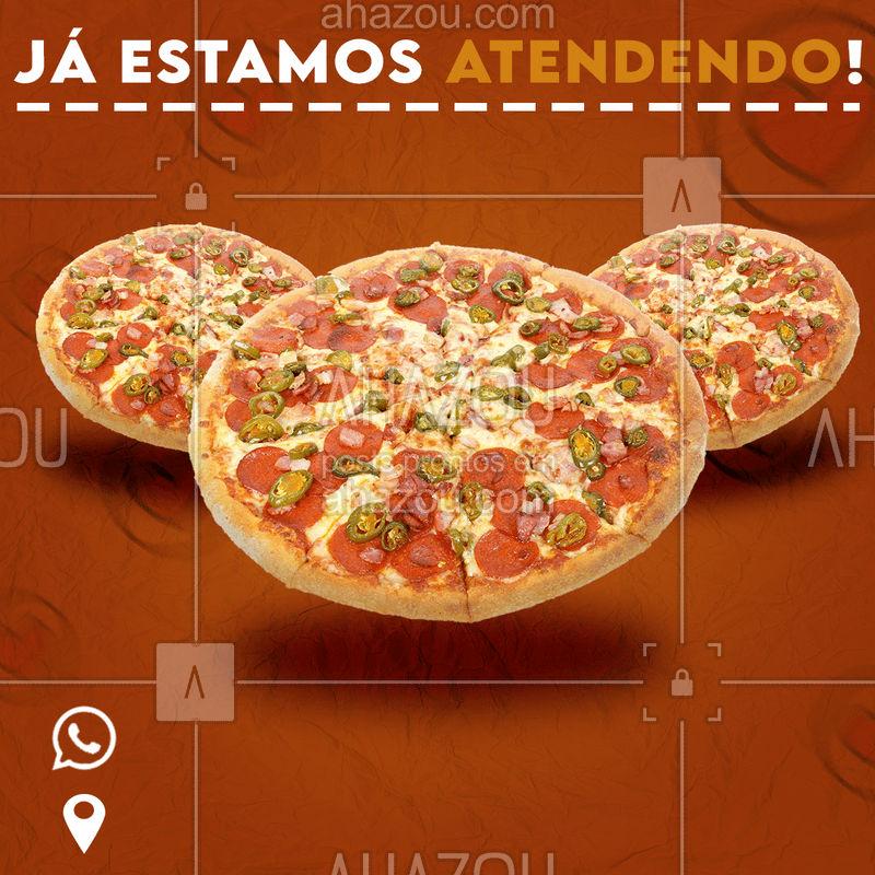 Já estamos de portas abertas e prontos pra entrega! Então não perde tempo, já chama a gente no whats ou passe aqui e faça seu pedido! Estamos te esperando! #ahazoufood #pizzaria #pizza #fastfood
