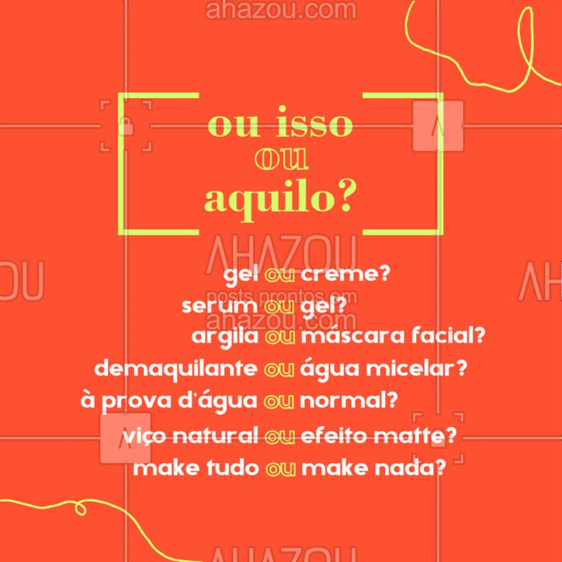 Vamos interagir ? Qual vocês preferem? Deixe nos comentários.  #skincare #esteticafacial #pele #ahazouestetica #autocuidado