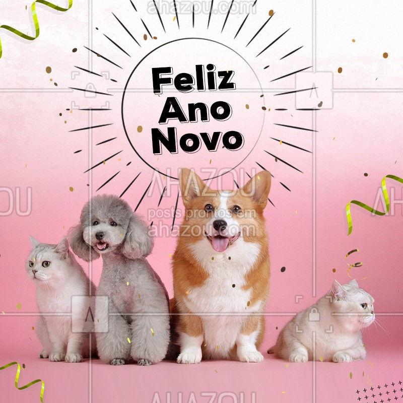 Desejamos um ano novo cheio de alegrias para você e seu pet ??? #pet #reveillon #anonovo #ahazoupet #AhazouPet
