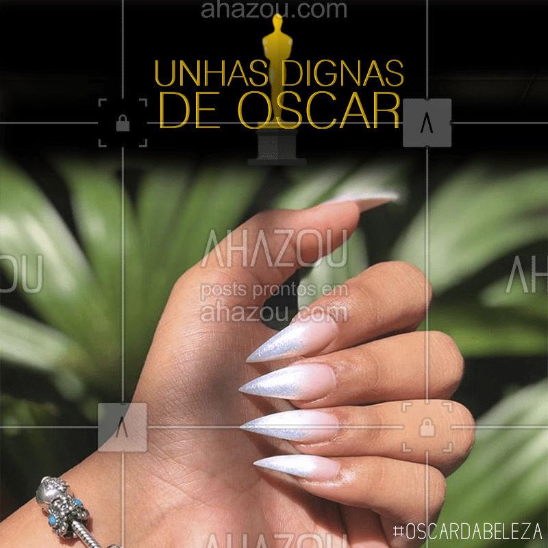 No clima de Oscar, vem pra cá ficar com as unhas tão lindas que vão até concorrer ao Oscar! ? #oscar2020 #ahazou #oscar #beleza #oscardabeleza