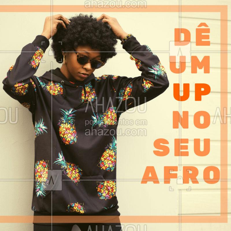 Nós entendemos as necessidades que o cabelo afro tem, venha cuidar do seu com a gente! ?? #cabeloafro #ahazoucabelos