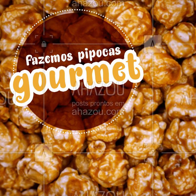 Se pipoca comum já é boa imagina com sabores especiais, vem experimentar nossas pipoquinhas gourmet doces e salgadas ?  Para te acompanhar no seu filme favorito ?   #ahazoutaste  #foodlovers  #confeitaria #pipoca #pipocadoce #pipocasalgada #pipocagourmet #gourmet #popcorn #salgada #doce