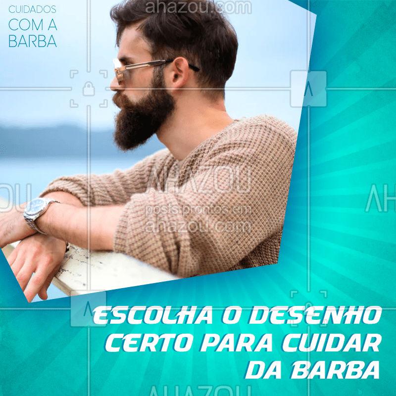 Escolher o seu tipo de barba é fundamental, para mantê-la aparada, afinal ninguém quer os pelos da barba juntando com o da nuca ou peito, ou os pelos da bochecha com a sobrancelha. Você deve escolher o tipo de barba correto para o seu rosto.  Mantenha ela limpa, hidratada e aparada.  #AhazouBeauty  #barberLife #barbeirosbrasil #barbeiro #barba #barbearia #barber #cuidadoscomabarba #barberShop #dicas #barbadesenhada