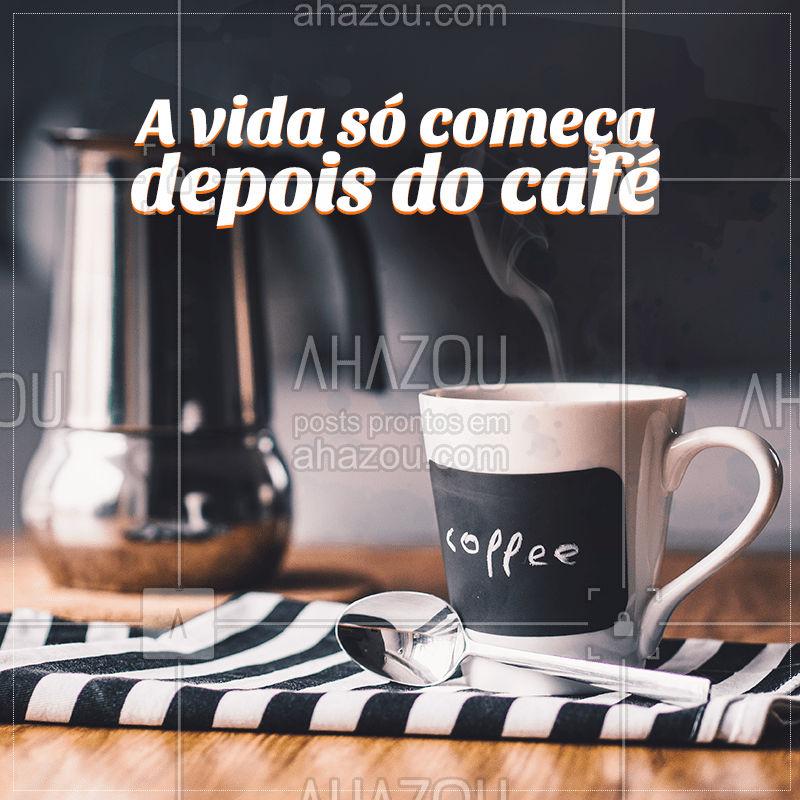 Bom dia! Bora levantar e tomar aquele cafézinho? #cafe #ahazoutaste #coffee #bomdia