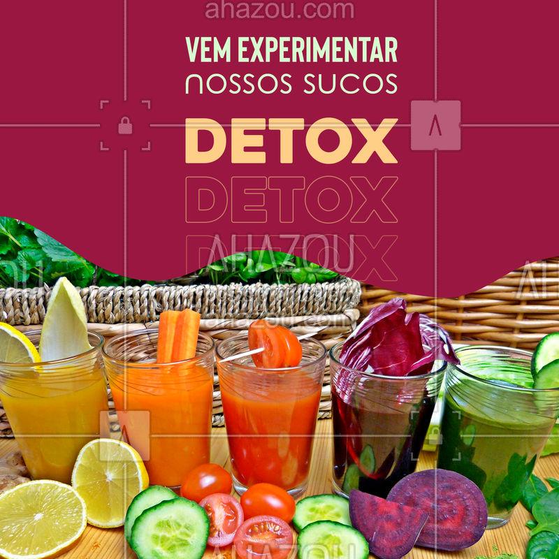 Que tal uma refeição leve junto com nossos sucos detox? é uma boa pedida para não sair da dieta ???  #dieta #sucos #detox #ahazou #sabores #emagrecer #saudável