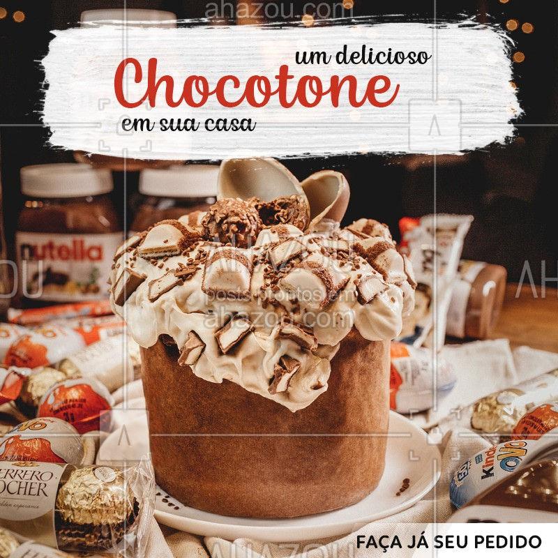 Não passe vontade em comer um Chocotone, faça já o seu pedido! ? #Chocotone #Ahazou #Natal