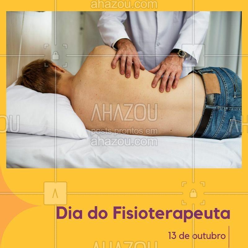 Celebre esse data tão importante para a sua carreira. #diadofisioterapeuta #ahazou #datascomemorativas