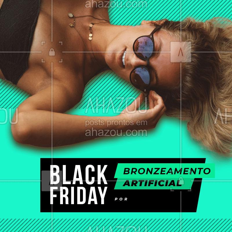 Aquele desconto pra chegar no verão com uma cor maravilhosa! #blackfriday #desconto #bronzeamento #ahazou #blackband #bronzeamentoartificial