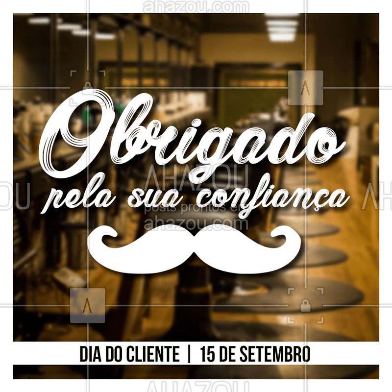 Agradecemos sua confiança e parceria conosco, vocês são os melhores ? #barbearai #ahazou #diadocliente