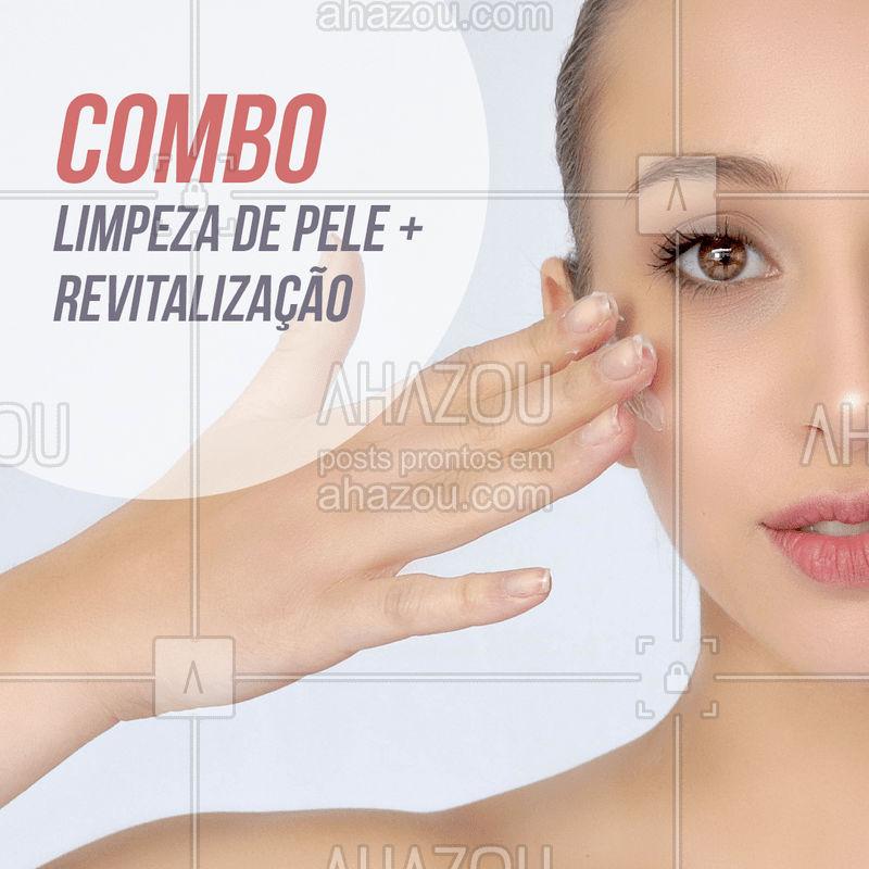 COMBO | Limpeza de pele + Revitalização Por apenas R$ * Válido até o final de Março, agende seu horário  #limpezadepele #ahazou #estetica #ahazouestetica