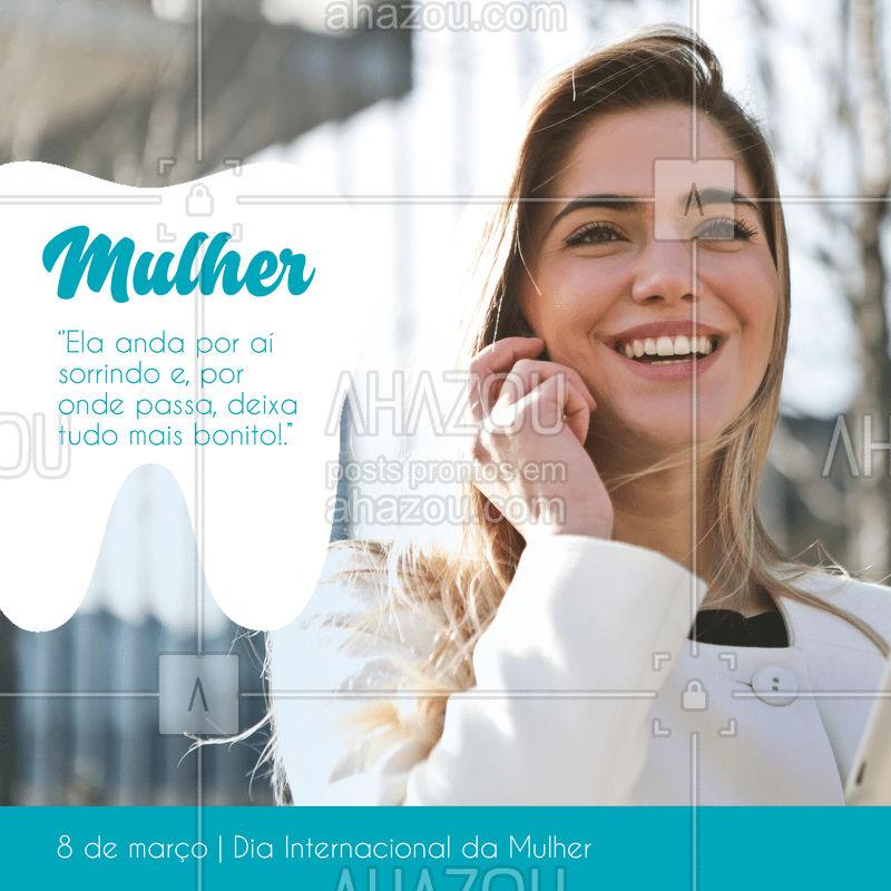 Feliz dia da Mulher a todas as nossas clientes e profissionais na areá, a todas o nosso respeito e carinho ???  #diadamulher #woman #ahazou #dentista #consultório #carinho #respeito #mulheres #odonto