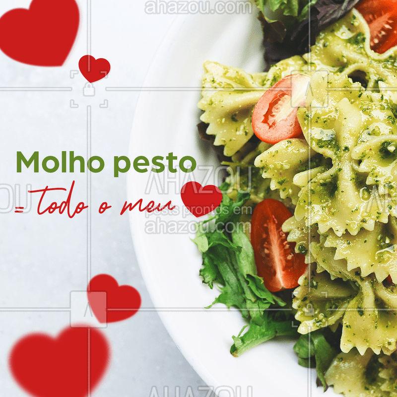 Qual seu molho favorito? ? Aqui na [INSINA O NOME] tem pra todos os gostos! ?✨#cozinhaitaliana #comidaitaliana #molhopesto #molhorose #molhobolonhesa #macarrão #ahazou