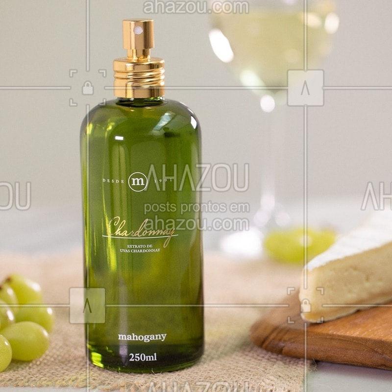 Chardonnay é um brinde à vida. Celebre cada momento com uma criação à altura dos melhores acontecimentos. #Chardonnay #ahazoumahogany #mahogany