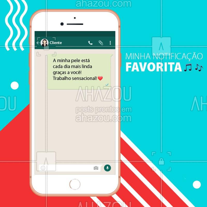 A melhor notificação do mundo, fala sério! ❤️ Não há nada melhor do que ver a felicidade de cada cliente! #esteticafacial #pele #ahazou #sertanejo #tophits