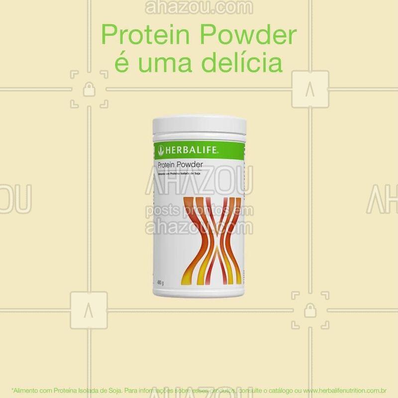 As proteínas são de extrema importância para o nosso organismo por sua função construtora e reparadora. E, com o Protein Powder, não tem desculpa para não consumir! Como ele tem um sabor neutro, você pode acrescentar no doce ou no salgado!  #shake #ahazouherbalife #herbalife #proteinpowder
