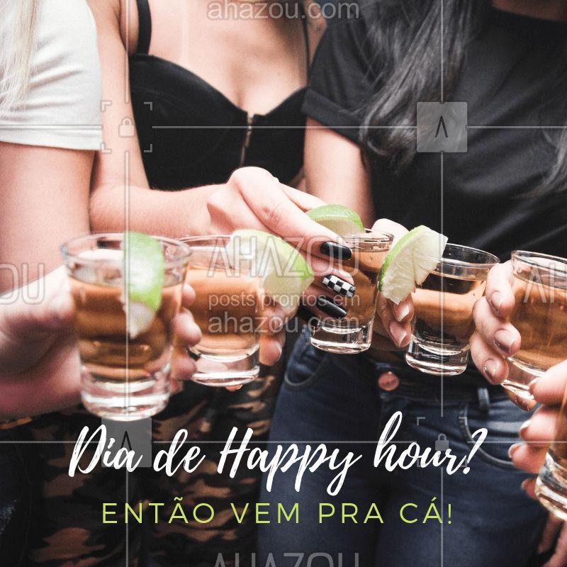 Happy hour só pode ser aqui! Vem! #happyhour #bebida #ahazou #bar